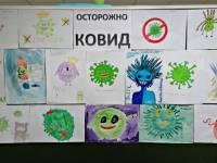 Ученики 5-6 классов рисовали то, как они видят ковид